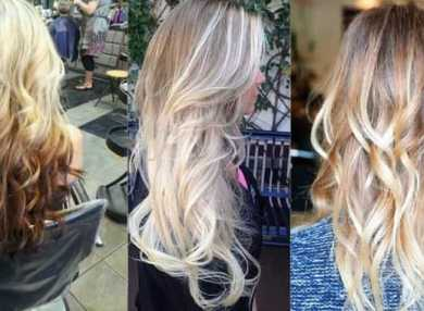 Как сделать омбре на светлых волосах