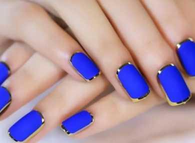 Модный синий маникюр с видео и фото