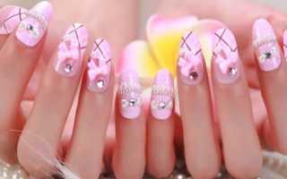 Самый красивый розовый маникюр с фото и видео