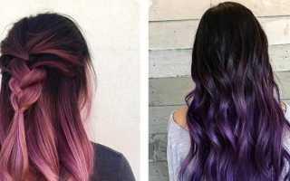 Как сделать омбре на темные волосы средней длины