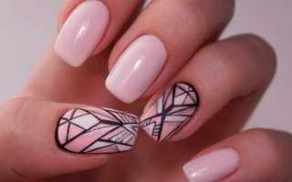 Актуальный дизайн для ногтей в стиле «геометрия» с видео и фото