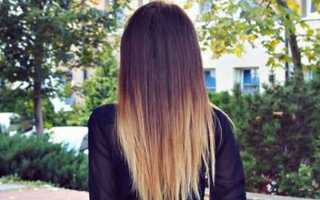 Окрашивание омбре на темные волосы с фото и видео
