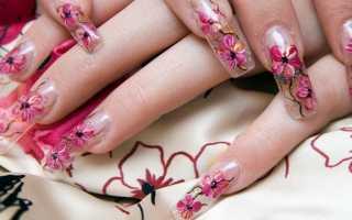 Аквариумный дизайн для ногтей с видео и фото