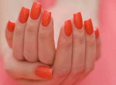 Модный оранжевый маникюр с видео и фото