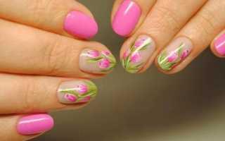 Эффектные рисунки на ногтях гель-лаком с фото и видео