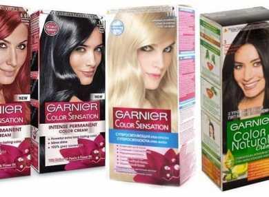 Палитра цветов краски для волос Гарньер с фото и отзывами