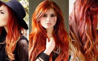 Как сделать мелирование на рыжие волосы