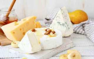 Калорийность сыра разных видов
