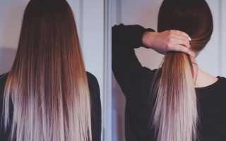 Как красить омбре на длинные волосы