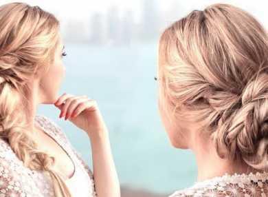 Как делать прическу с косой на средние волосы
