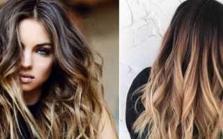 Как сделать шатуш на темные волосы