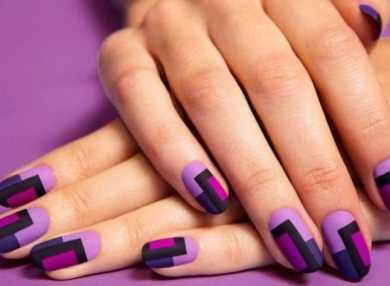 Самый красивый фиолетовый маникюр с фото и видео