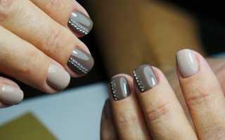 Актуальный дизайн на короткие ногти с видео и фото