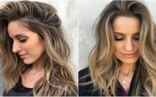 Как сделать колорирование на русые волосы