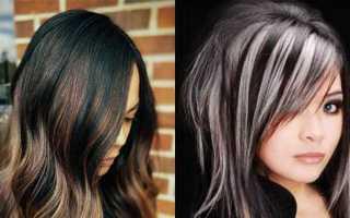 Как сделать мелирование на черные и темные волосы