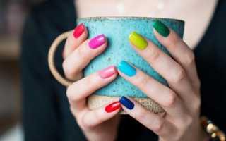 Самый красивый разноцветный маникюр с фото и видео