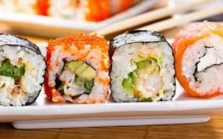 Все о калорийности суши и роллов