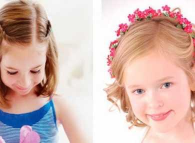 Как делать прически на короткие волосы для девочек
