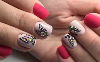 Актуальный дизайн для ногтей с бабочками с видео и фото
