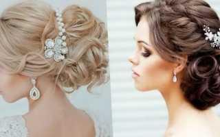 Как делать прическу на свадьбу на средние волосы