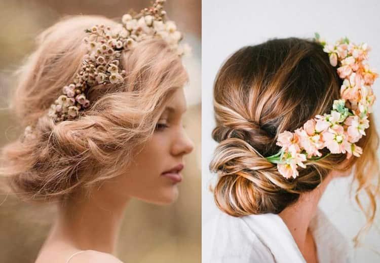 На фото видно, какие красивые греческие прически получаются на средние волосы.
