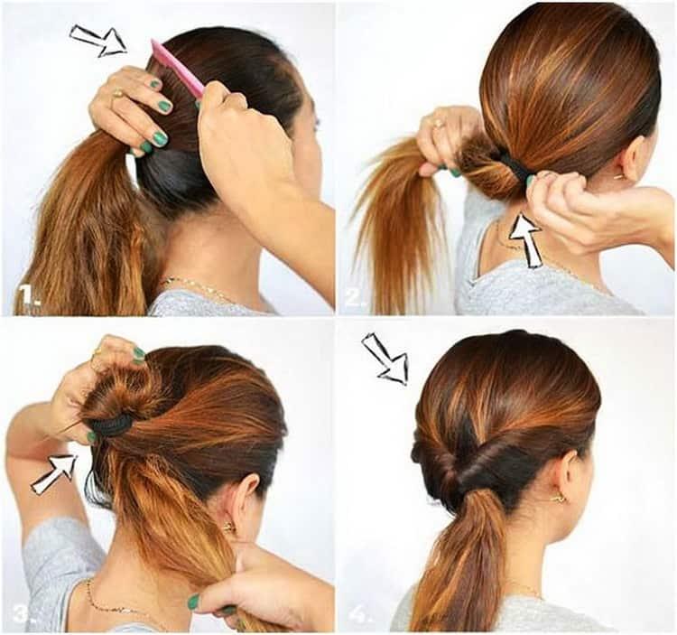 Смотрите как делать быстраыые прически на средние волосы своими руками