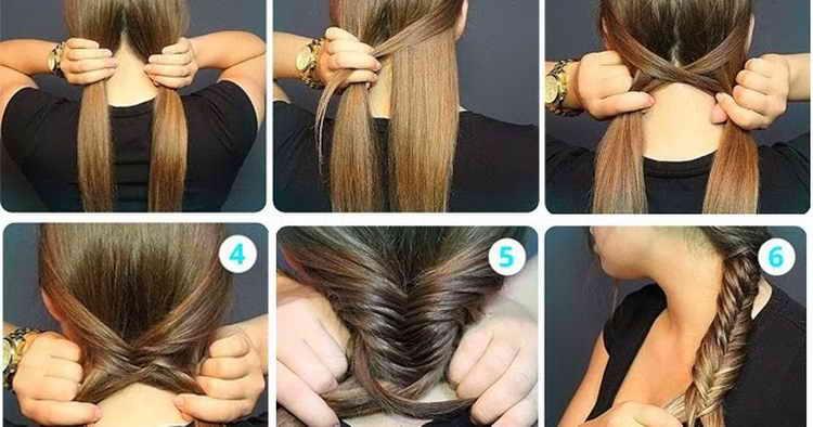прически на средние волосы с косыми косами