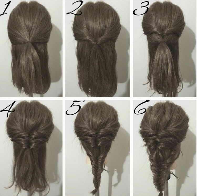 прически с косой на короткие волосы