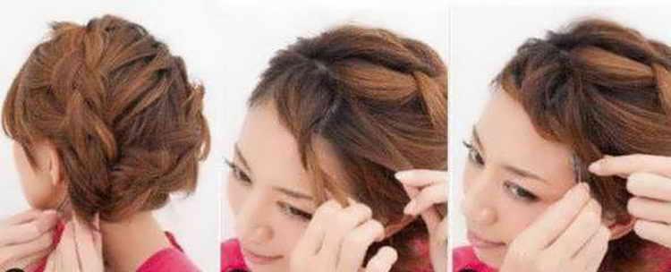 прическа коса на бок