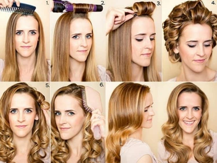 Как делать прически с кудрями на длинные волосы