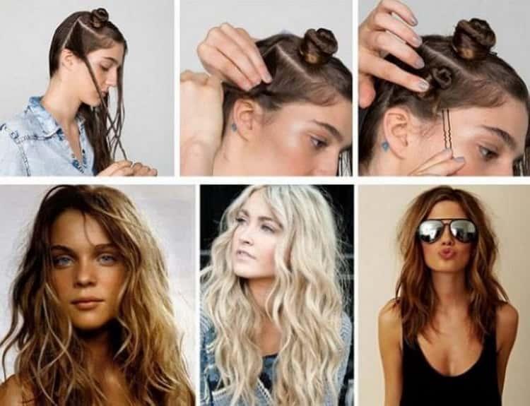 Как делать прически с кудрями на средние волосы, смотрите фото