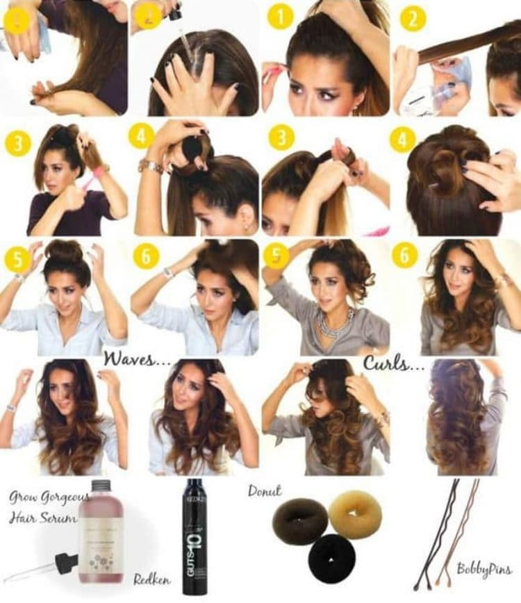 Как делаются прически с локонами на короткие волосы