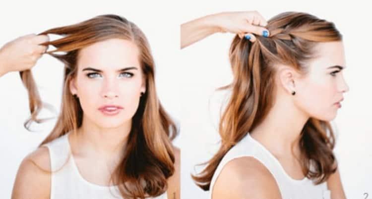 Прически с плетением на короткие волосы делают легко