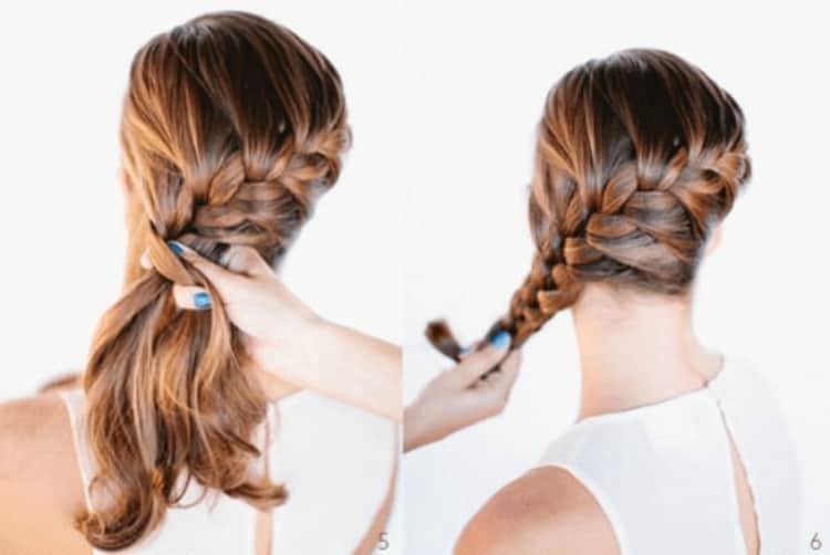 Красивые прически с плетение на средние волосы, смотрите фото