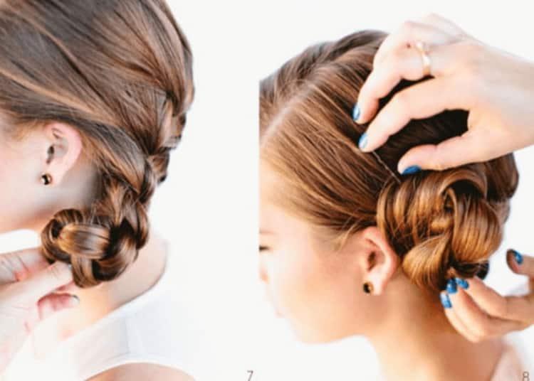 Как делать свадебные прически с плетением