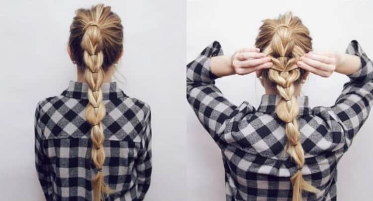 Смотрите как сделать прически на распущенные волосы с плетением