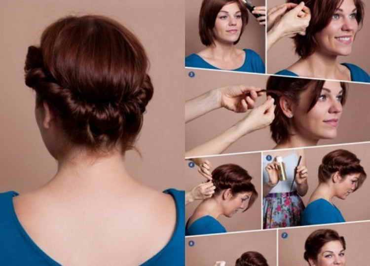 прически на средние волосы повседневные пошаговое фото