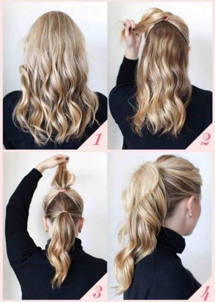 повседневные прически на средние волосы в домашних