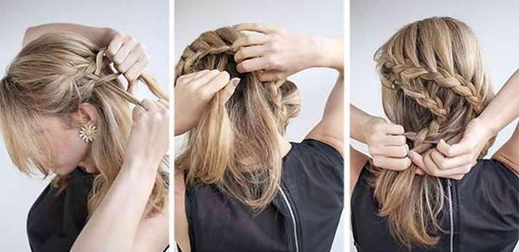 прическа ракушка на короткие волосы