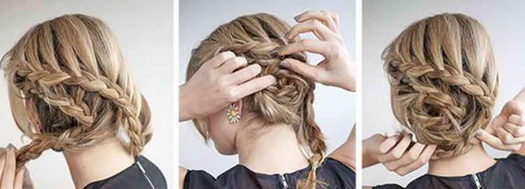 прическа ракушка на средние волосы видео