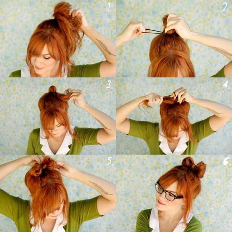 Как делается прическа бантик из волос для девочки