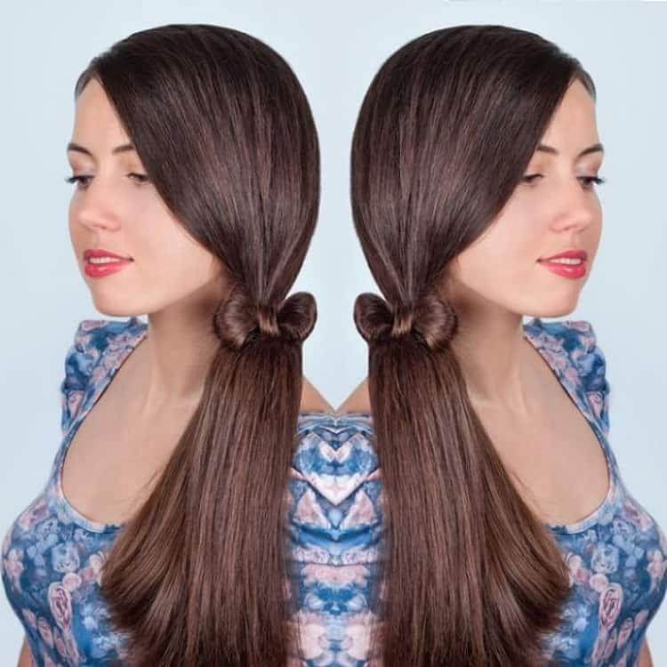 Прическа бантик из волос пошаговая инструкция фото