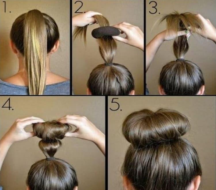 Как делается прически бабетта на средние волосы