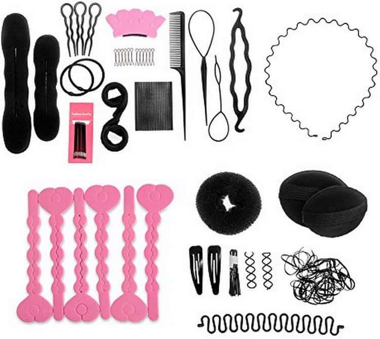 Вот все аксессуары, которые могут понадобиться для создания прически для девочки в садик на каждый день.