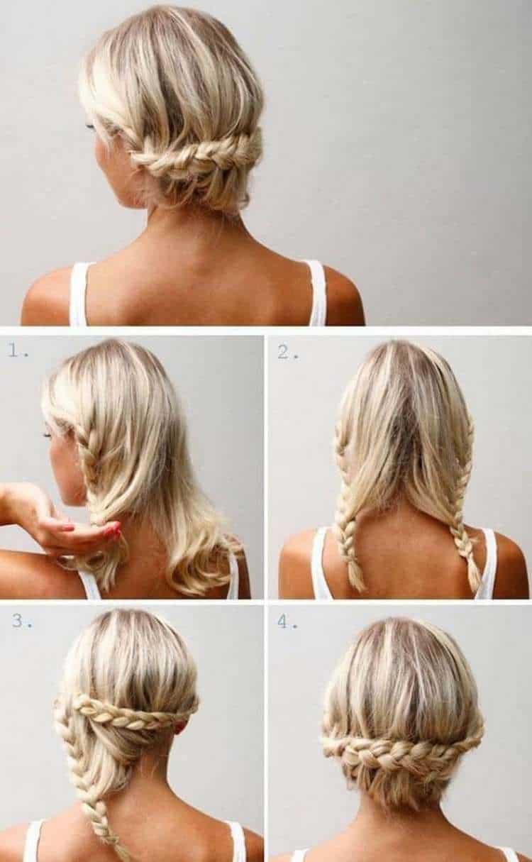 А такие прически с косичками можно делать даже на сравнительно короткие волосы.
