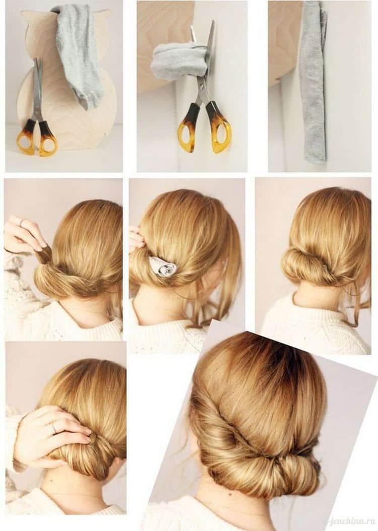 А такую прическу можно сделать на тонкие волосы до плеч.