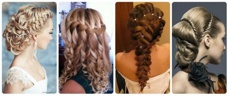 А такие прически на выпускной можно делать на 9-й и 11-й класс на средние и длинные волосы, как показано на фото.