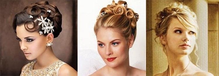 Классическим вариантом прически на выпускной являются и собранные волосы.