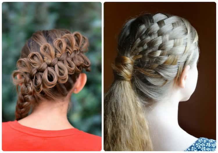 крутые прически с плетением на длинные волосы