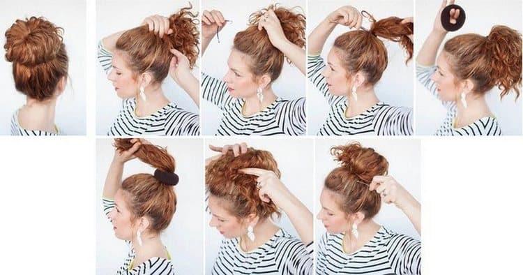 Если вас интересуют собранные прически на короткие волосы, простой пучок это один из самых простых вариантов.